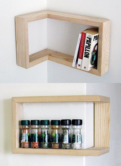 The Kulma shelf, designed by Martina Carpelan and Hong Ngo, is a clever little piece of minimal decor, the beauty of which is in its simplicity. The L-shaped oak shelf is meant to be mounted in a corner of a room. But the cool part is that it's interchangeable: it can wrap around an outward-facing corner or it can be nestled into an inward-facing one.