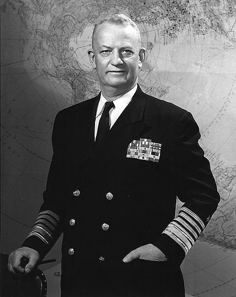 Arleigh Burke (1901 - 1996) US admiral, Chief of Naval Operations for an unprecedented three terms, the Arleigh Burke-class destroyer is named for him