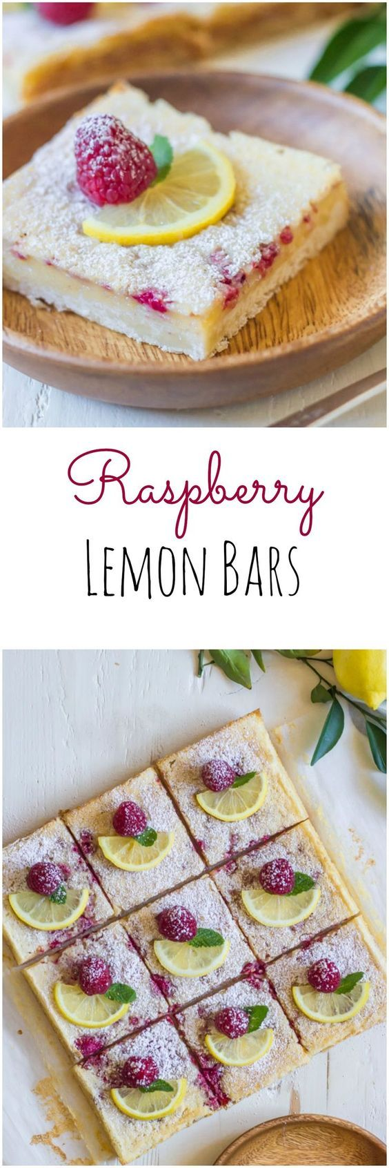 Fresh raspberries are whisked into a sweet and tart lemon filling - all on top of a thick buttery shortbread crust!