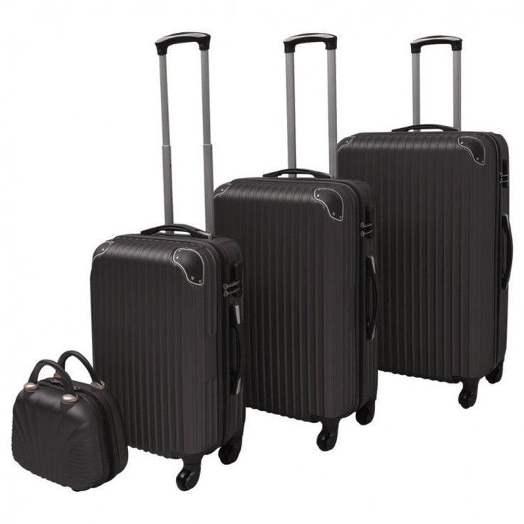 Travel Luggage Set 4 Piece Trolley Travel Bag Practical Storage Durable Security