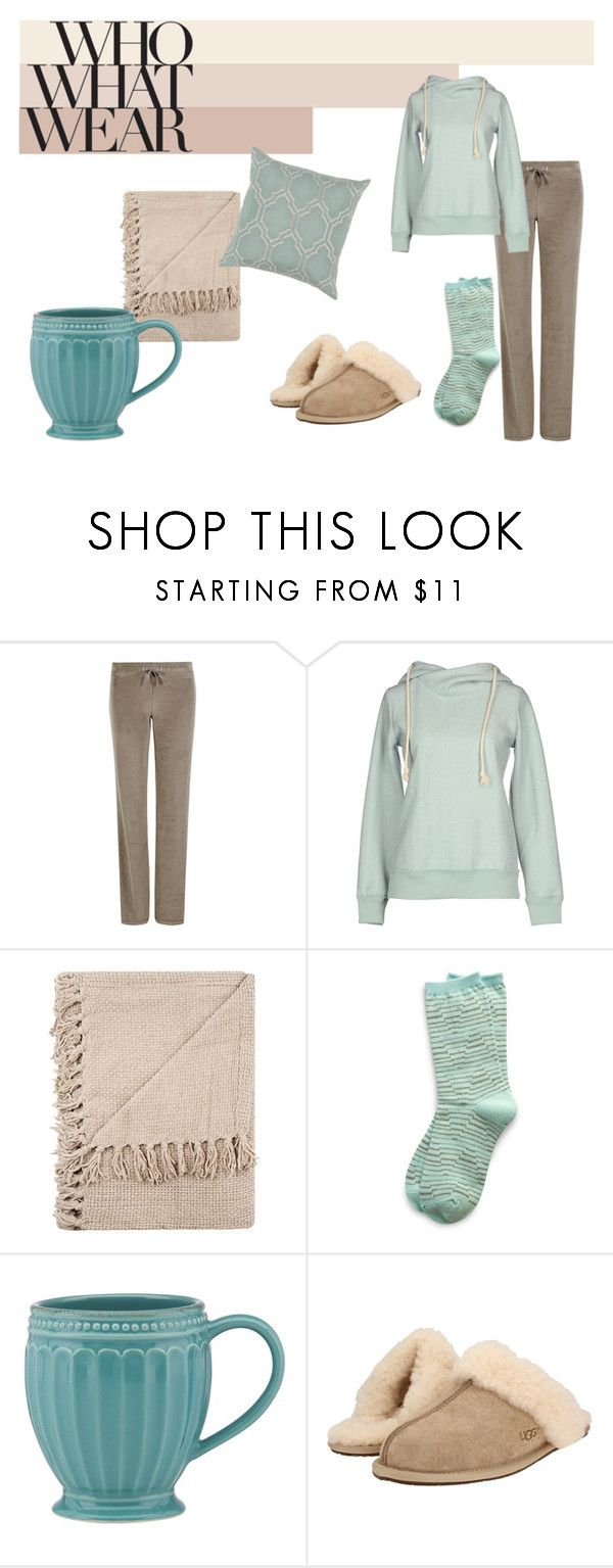 """""""Me and my couch"""" by lunkhead on Polyvore featuring M&S Collection, Made for Loving, Richer Poorer, Lenox, UGG Australia and Décor 140"""