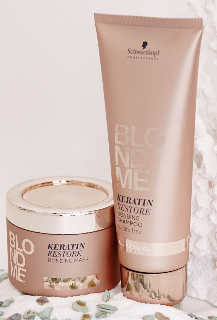 """#BLONDME Keratin Restore is powered with Bonding Technology to give you the best care. Click on the """"visit"""" button to check how to use them!"""