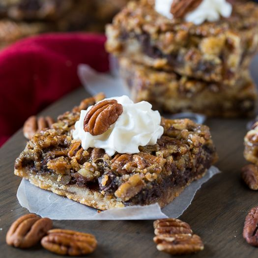 Chocolate Chips Pecan Bars- What's better than pecan bars, chocolate chip pecan bars!