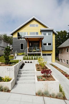 Modern Gray and Yellow home. Phinney Ridge Seattle - modern - exterior - seattle - Portal Design Inc
