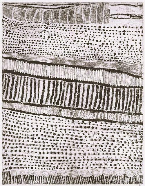 Kutuwulumi Purawarrumpatu (Australian, born ca. 1928, died in 2003), Untitled, 1999, lift-ground etching, aquatint, black ink on ivory wove paperAustralian 1928 2003, Lifting Ground Etchings, Wove Paper, Art, Kutuwulumi Purawarrumpatu, Black Ink, Woven Paper, Purawarrumpatu Australian, Ivory Woven