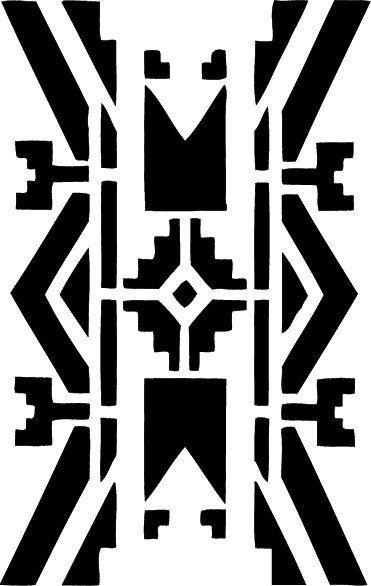 STENCIL Native American wall border 10x15.8  no.225