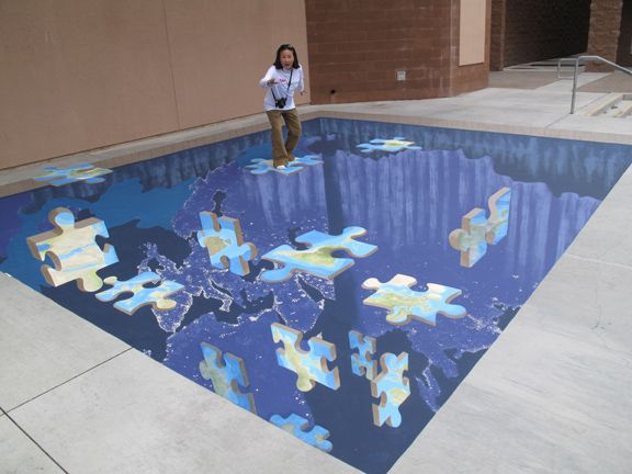 The Amazing 3D Chalk Street Paintings of Tracy Lee Stum ~ Kuriositas