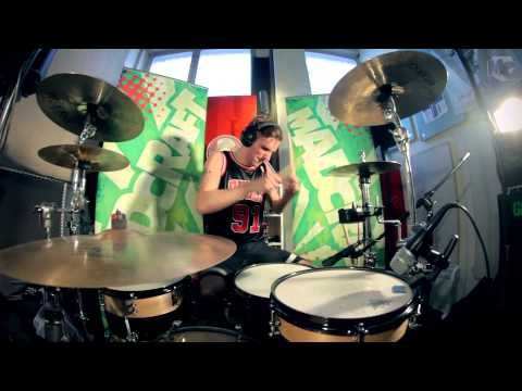 """Otto owning... spiked block with a drum cover of the song Blink-182 - Ghost On The Dancefloor. #blink182 #travisbarker #drums #drumcover #youtube #video    Blink 182: """"Ghost On The Dancefloor"""" from the 2011 release album """"Neighborhoods"""" is the copyrighted property of its owner(s).    External Drums by: Otto Uotila of MadCraft.    Watch the previous drum covers:  Blink-182 - Feeling This http://youtu.be/26OTjA..."""