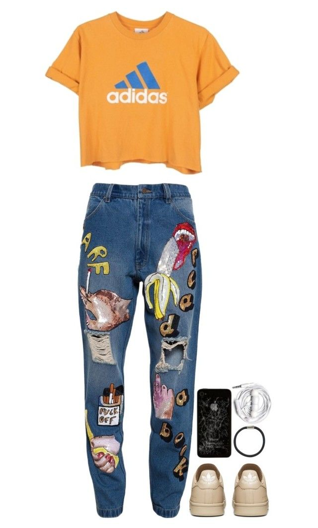 """""""We are running so fast"""" by theaserr ❤ liked on Polyvore featuring moda, Ashish, adidas, Hershesons, Urbanears, women's clothing, women, female, woman y misses"""
