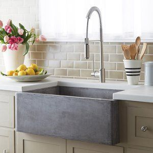 Native Trails Farmhouse 3018 NativeStone Kitchen Sink - The smooth glamour of this Native Trails Farmhouse 3018 NativeStone Kitchen Sink brings a fresh sense of durability and styling to the classic farmhouse...