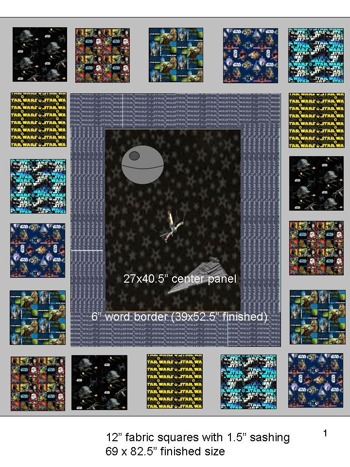 Star Wars Quilt | My evil plan... with 3 center variations s… | Flickr