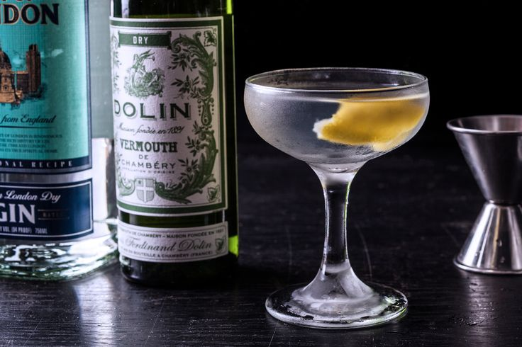 A classic recipe for the perfect martini cocktail, with gin, dry vermouth, and a lemon twist.