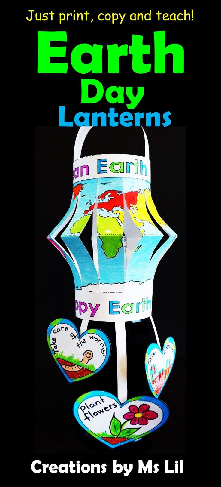 A fun, interactive Earth Day Craft that looks fantastic hanging from the classroom ceilings.  Your kids will love creating these Earth Day globes.  ::  ::  ::  ::  ::  ::  ::  ::  ::  ::  ::  ::  ::  ::  ::  ::  ::  ::  ::  ::  ::  Earth Day  ::  Earth Day Craft  ::  Fine Motor Crafts  ::  April 22  ::  Crafts for Kids  :: Earth Day Activities ::  Paper  Lanterns  ::  Ms Lil  ::  Environmental Education  ::  World Maps  ::  Globes  ::  3D Crafts  :: #earthdayactivties