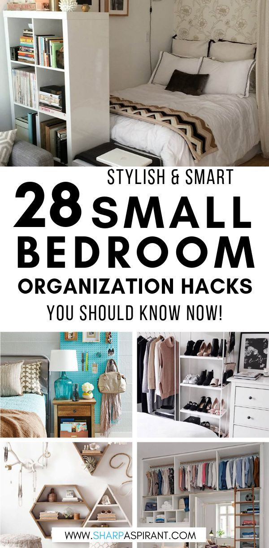 28 Small Bedroom Organization Ideas That Are Smart And Stylish Sharp Aspirant Room Organization Bedroom Small Bedroom Organization Organization Bedroom Bedroom room organization ideas