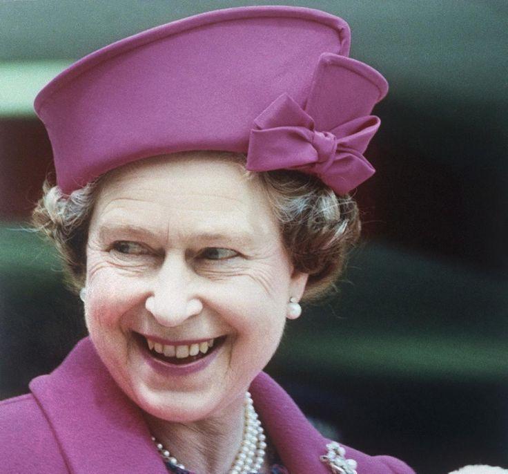 Queen Elizabeth Ii Wears A Purple Hat Photos 60 Years
