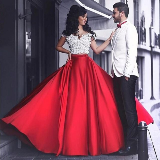 Romantic Red Fashion Skirts For Lady