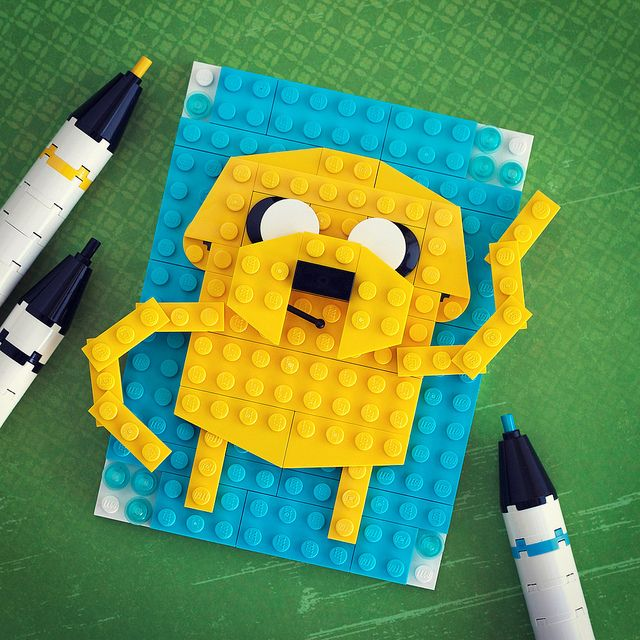 Brick Sketches, Pop Culture Characters Recreated in LEGO Adventure Time Algebraic!