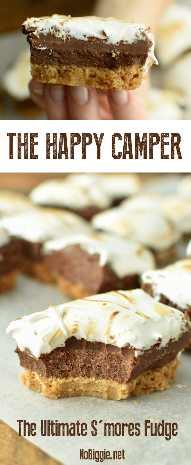 The Happy Camper   The Ultimate S'mores Fudge   NoBiggie.net