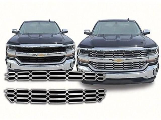 QAA PART SGC56184 fits SILVERADO 2016-2017 CHEVROLET (2 Pc: ABS Plastic Grille Overlay Insert, 1500, LS & LT ONLY) SGC56184