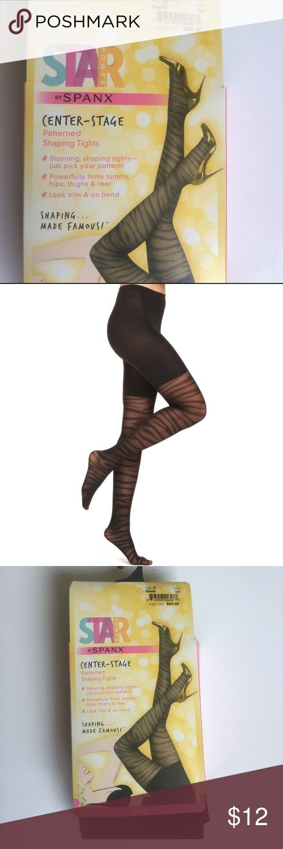 Star Power by Spanx Patterned  Shaping Tights Sz C Star Power by Spanx Patterned  Shaping Tights. Stunning shaping tights. Powerfully firms tummy, hips, thighs, and rear. Look trim and on trend! ❤️ Size C SPANX Accessories Hosiery & Socks