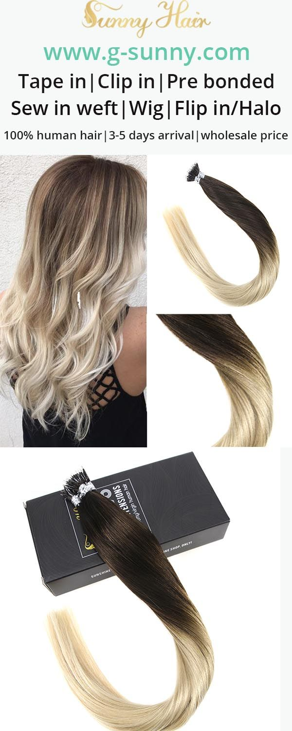 39 Best Sunny Hair Nano Ring Human Hair Extensions Images On Pinterest