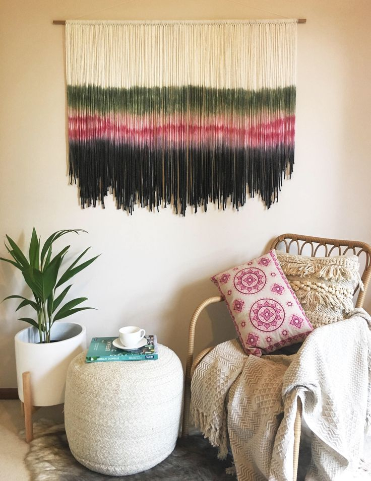Fiber art / Fibre Art / Tapestry / Dip Dyed / Wall Hanging / Wall art / wall decor / home decor / macrame