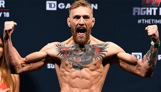 Conor McGregor shirtless body....