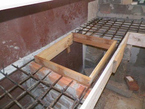 Barra De Cocina En Porcelanato Y Cemento Empotrada