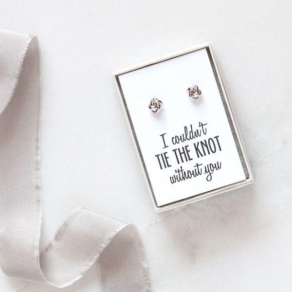 knot bridesmaid earrings