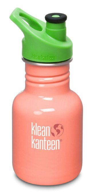 Amazon.com: Klean Kanteen 12 oz Stainless Steel Water Bottle (Sports Cap 3.0 in Bright Green) - Living Coral: Baby