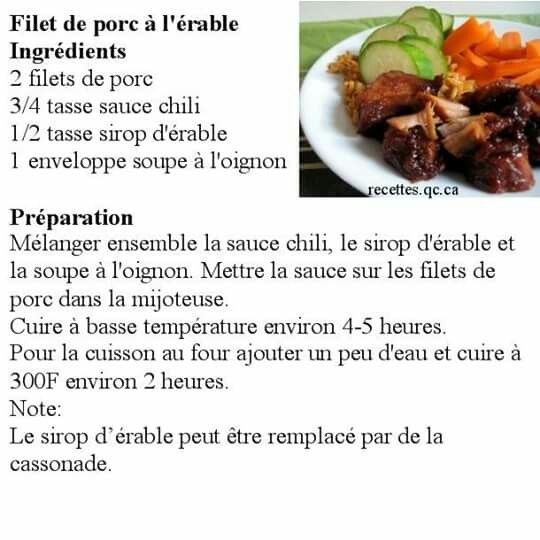 Filet de porc mijoteuse