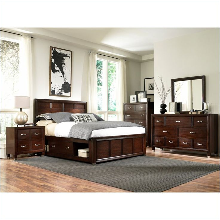 Model Of Broyhill Eastlake 2 Double Storage 5 Piece Bedroom Set in Brown Cherry 4264 5Pc Photos - Lovely broyhill bedroom set Awesome