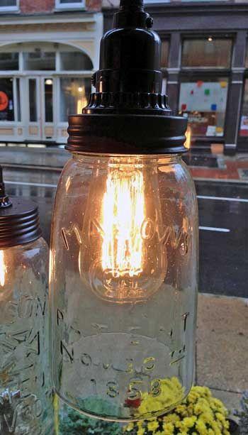 Rustic Industrial Mason Jar Pendant Lights ♥