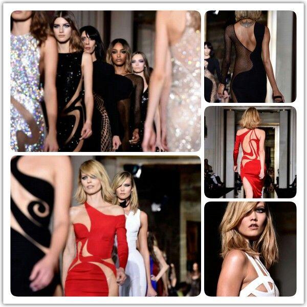 Lágy ívek, nőies vonalak - Atelier Versace haute couture kreációk 2015 tavaszára #versace #fashion #hautecouture #hautecoutureweek #paris