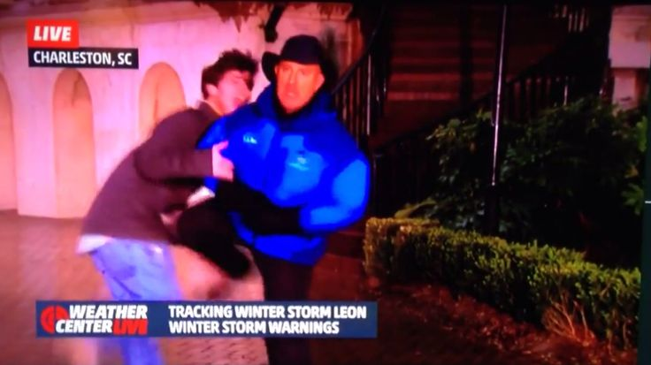 "HILARIOUS!      ""Guy Tries To Attack Jim Cantore During Live Shot, Immediately Regrets It"" -- Buzzfeed"