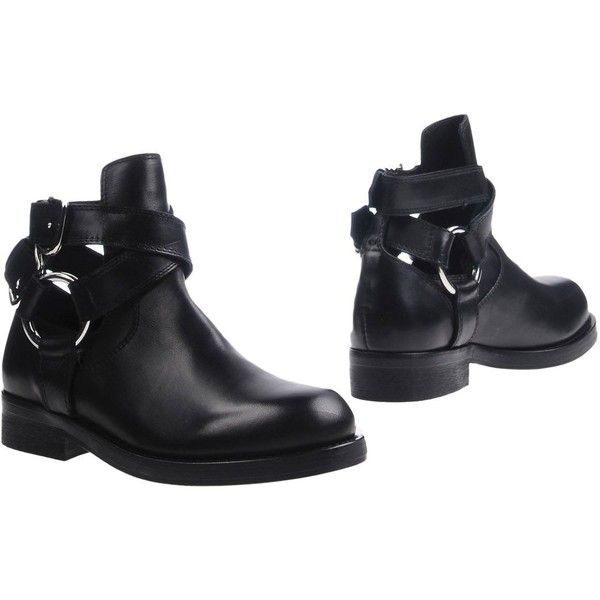Diesel Black Gold Ankle Boots (950 HRK) ❤ liked on Polyvore featuring shoes, boots, ankle booties, black, black buckle boots, black ankle bootie, leather ankle booties, black ankle booties and leather ankle boots