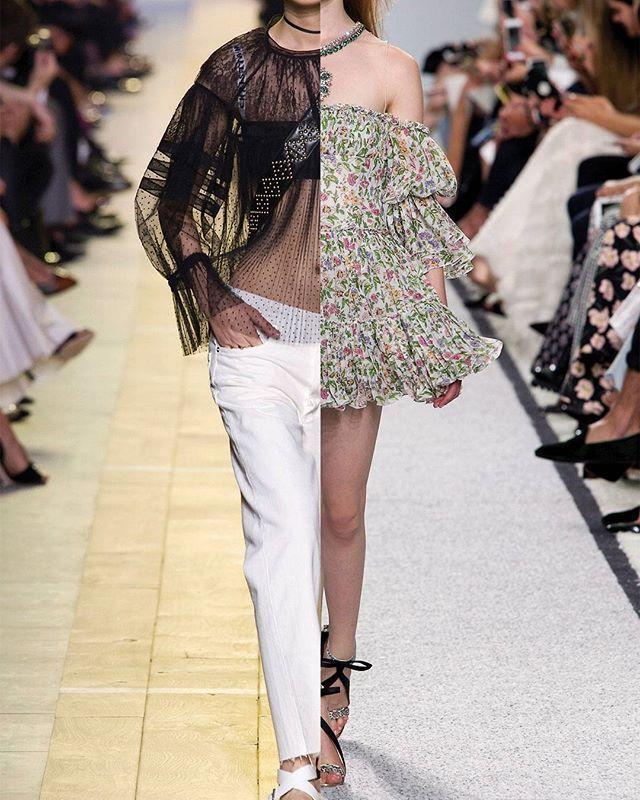 Sorte blonder og hvide afklippede jeans en blomsterkjole tilsat et par cool støvler eller en T-shirt kombineret med et ballerinaskørt  tænk i kontraster når du går efter sæsonens romantiske og cool look der er inspireret af en ung Vanessa Paradis grungelook i 1990erne. Det er både brugbart og legesygt på samme tidSe alle de største trends fra den internationale catwalk i vores store trendbibel S/S 2017 som du får gratis med denne måneds ELLE#ELLEmarts #trendbibel #ss17  via ELLE DENMARK…