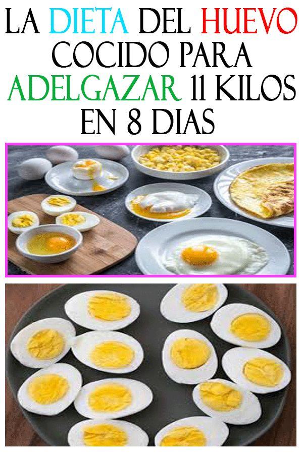la dieta del huevo cocido para adelgazar 11 kilos en 8 dias. #Salud #Caseros #Re…