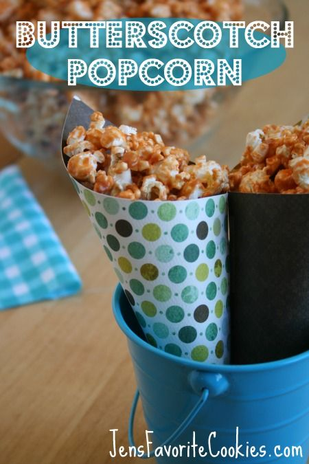 Butterscotch Popcorn - FOUR ingredients! -from Jen's Favorite Cookies
