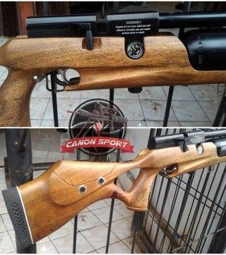 Senapan PCP Bocap 500 cc Monoblok jenis senapan PCP marauder yang menggunakan magazine lokal isi 14 rotari dan bisa juga menggunakan adaptor single untuk tempat peluru