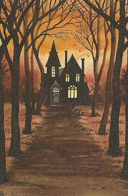 """In Browning's """"Porphylia's Lover"""" he strangled the woman in a dark room on a stormy night. This house fits the description of how the house may have looked that night, dark and eery."""