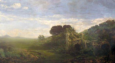Giberto Borromeo (1815-1885), Rovine della Rocca di Arona, 1858 olio su tela, Milano, Galleria d'Arte Moderna, in deposito alla Pinacoteca di Brera