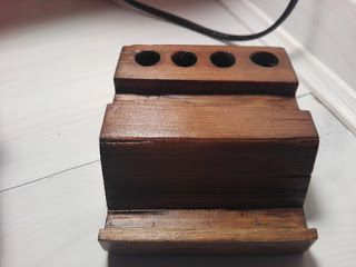 Welcome to Kalamondin Design: Wooden stand for pens and smartphone/ drewniany organizer na biurko