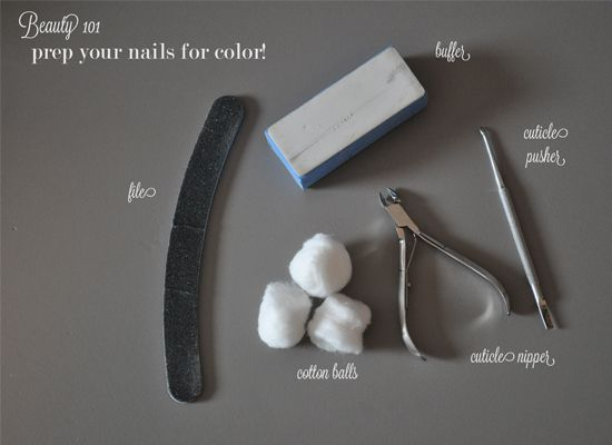 *use cotton balls, instead of tissue, saturated with nail polish remover to remove polish.Now you are ready for polish! In case you haven't come across this helpful diagram on pinterest, it's...