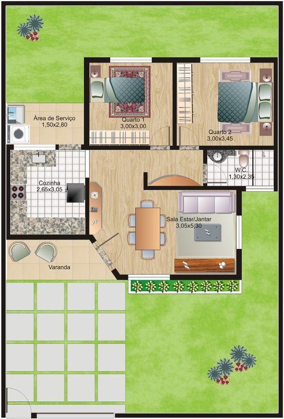 Más de 1000 ideas sobre Planos De Casas Pequeñas en Pinterest ...