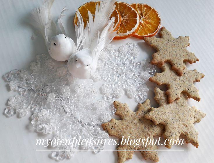 Makowo pomarańczowe kruche ciasteczka