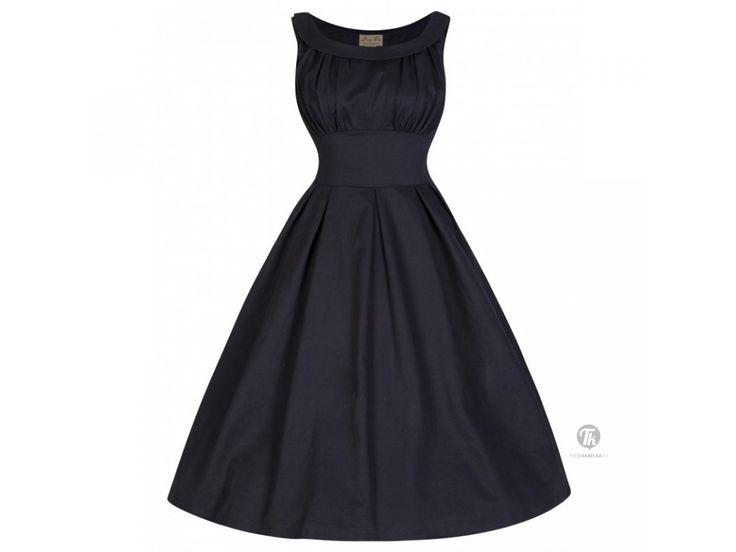 LINDY BOP RETRO DÁMSKÉ ŠATY SELEMA ČERNÉ . Lindy Bop retro šaty v klasické černé barvě ve stylu 50.let nikdy nevyjdou z módy