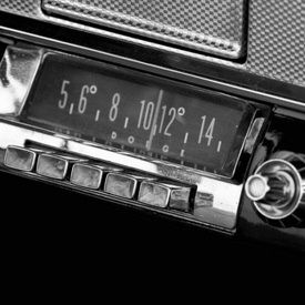 """Car Radio:  In 1930, Paul and Joseph Galvin, along with William Lear, developed the first automobile dashboard radio and named it the ""Motorola,"" or motorized Victrola—and demonstrated the 5T71 prototype (PHOTO) in a Studebaker."""