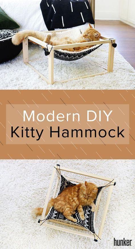 Ihre Katze wird diese moderne DIY Kitty Hängematte lieben