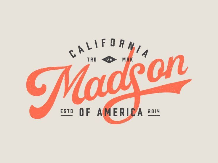 Madson of America logo design by Kenny Coil, via From up North.